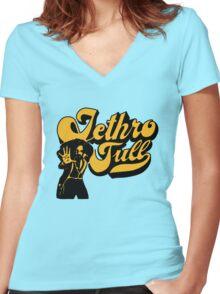 Jethro Tull Women's Fitted V-Neck T-Shirt