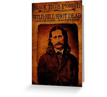 Wild Bill Hickok Deadwood Design Greeting Card