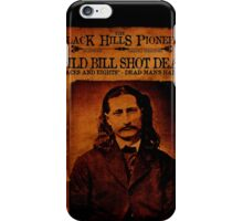 Wild Bill Hickok Deadwood Design iPhone Case/Skin