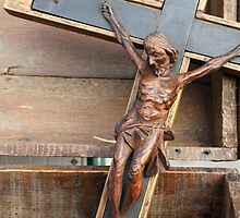 wooden crucifix by spetenfia