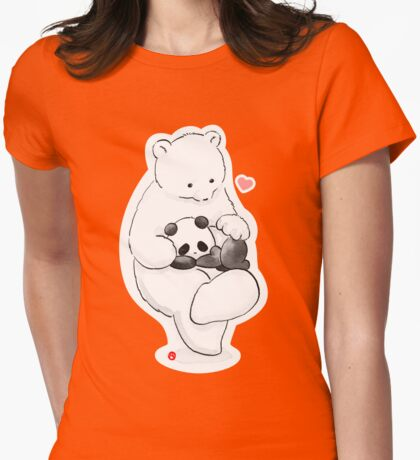 Panda Therapy Womens Fitted T-Shirt