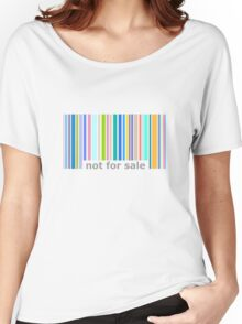 Not For Sale Barcode - Colorful Women's Relaxed Fit T-Shirt