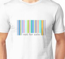 Not For Sale Barcode - Colorful Unisex T-Shirt