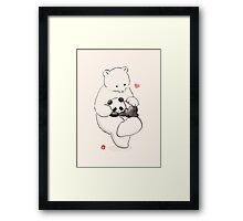 Panda Therapy Framed Print