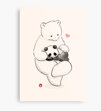 Panda Therapy Metal Print