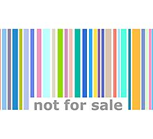 Not For Sale Barcode - Colorful Photographic Print