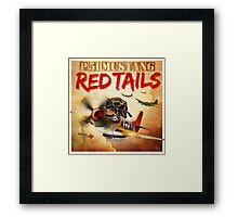 "WINGS Series ""P-51 RED TAILS"" Framed Print"