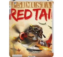 """WINGS Series """"P-51 RED TAILS"""" iPad Case/Skin"""