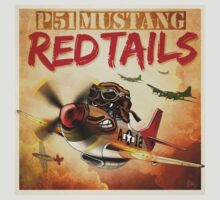 """WINGS Series """"P-51 RED TAILS"""" T-Shirt"""