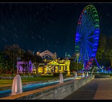 The Torbay Big Wheel at Night with star trails by MDSPhotoimages