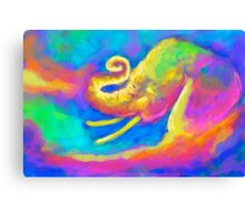 Elephant Painting Color 3 Canvas Print
