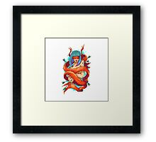 arrow and girl Framed Print