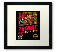 Zombie Head Hunt Framed Print