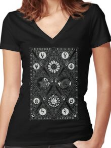Cosmica - Negative Women's Fitted V-Neck T-Shirt