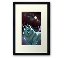Moon Wolf from a Dream Framed Print