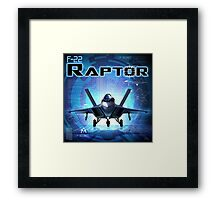 "WINGS Series ""F22 RAPTOR"" Framed Print"