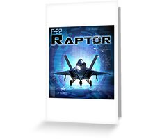 "WINGS Series ""F22 RAPTOR"" Greeting Card"
