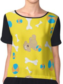 Seamless background with toys Chiffon Top