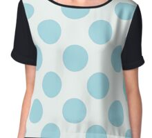 Big pale blue polka dot pattern,modern,trendy,girly,cute,fun,happy, Chiffon Top