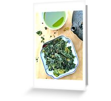 Kale Chips And Green Tea Greeting Card