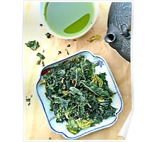 Kale Chips And Green Tea Poster