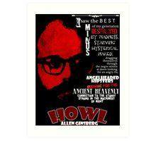 Allen Ginsberg Howl - Beat Poem Author T-shirt Art Print