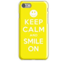 KEEP CALM AND SMILE ON iPhone Case/Skin