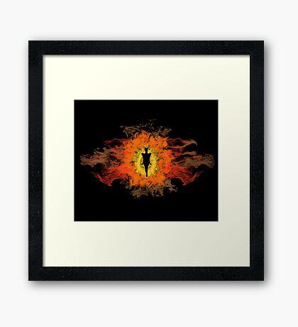 The Dark Lord of Mordor Framed Print
