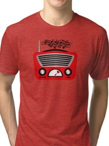 Stay tuned on love Tri-blend T-Shirt