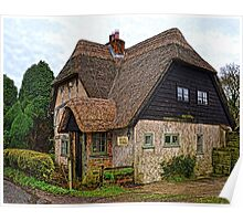 English Country Cottage Poster