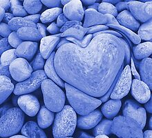 heart love stones in the quarry by spetenfia