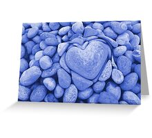 heart love stones in the quarry Greeting Card