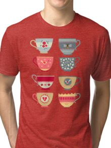 Tea Cups Tri-blend T-Shirt