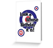Who Birthday Card (with age) Greeting Card