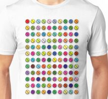 Multi-coloured Pills Pattern Unisex T-Shirt