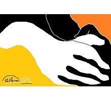 2 X Hands -(290814)- Digital artwork: MS Paint/Mouse drawn Photographic Print