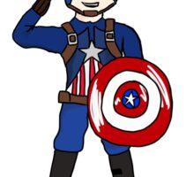 Cute Captain America Sticker