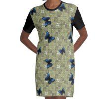 butterflies Graphic T-Shirt Dress