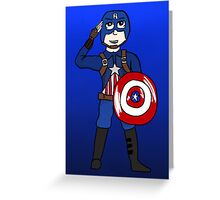 Cute Captain America Greeting Card