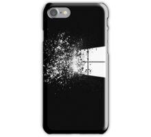 windows logo shattered iPhone Case/Skin