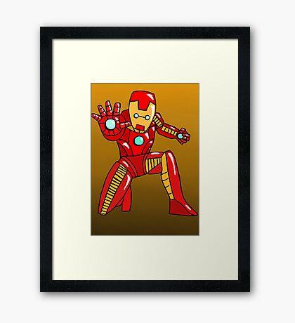 Cute Iron Man Framed Print