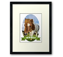What Would Swanson Do? Framed Print