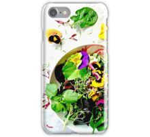 Sald With Edible Flowers iPhone Case/Skin