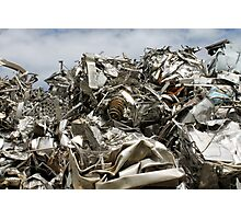 scrap metal Photographic Print