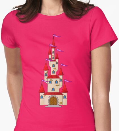 Tall Fairytale Castle Womens Fitted T-Shirt