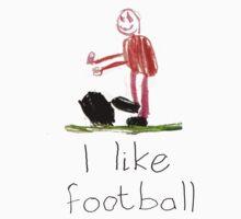 I like football Baby Tee