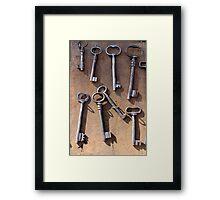 old set of keys Framed Print