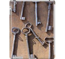 old set of keys iPad Case/Skin
