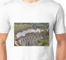 Jacobite Steam Train, Glenfinnan Viaduct, Scotland. Unisex T-Shirt