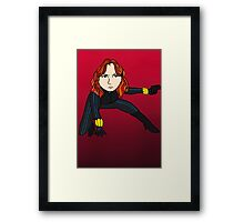 Cute Black Widow Framed Print